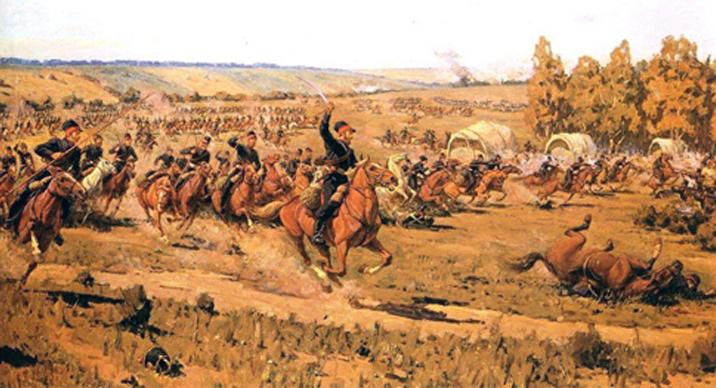 Carica della cavalleria ccosacca, Russia - 1812