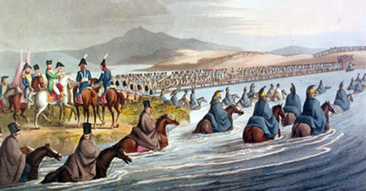 L'attraversamento del Niemen in Russia 1812