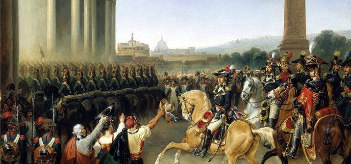 Entrée_de_l'Armée_française_à_Rome I «Commissarj Francesi» a Roma omte