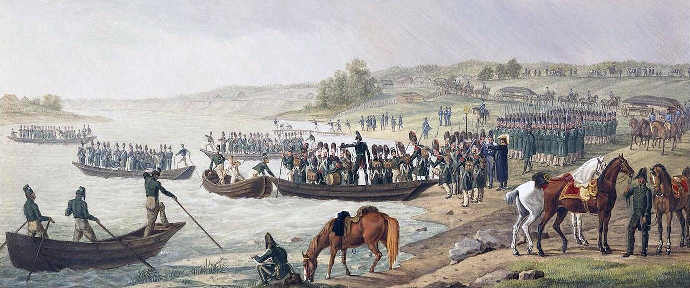 Eugene_Beauharnais_Crossing_Niemen_1812 campagna di Russia