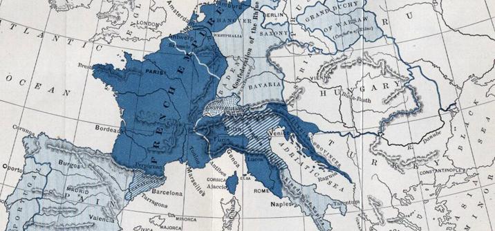 Mappa dell'impero napoleonico 1810, I prefetti di Napoleone