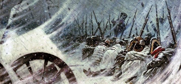 Bivacco notturno, ritiata di Russia 1812, La disfatta della Grande Armée
