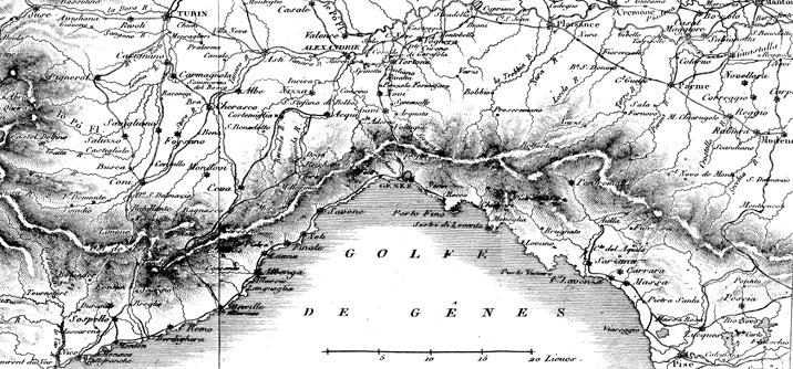 Carta del Golfo di Genova, Massena, il governo ligure e la crisi del grano