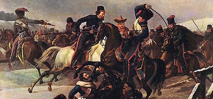 cosacchi attaccano cavlleria francese, La disfatta della Grande Armée