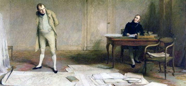 Napoleone detta le sue memorie a Las Cases A Sant'Elena
