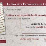 Un libro su Agostino Rivarola alla Società Economica di Chiavari