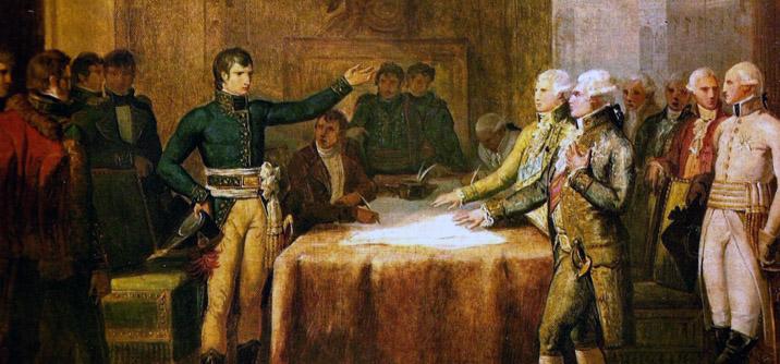 Bonaparte a Leoben, la situazione politica francese
