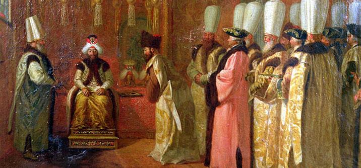 Ambasciatori a udienza del sultano Osman III